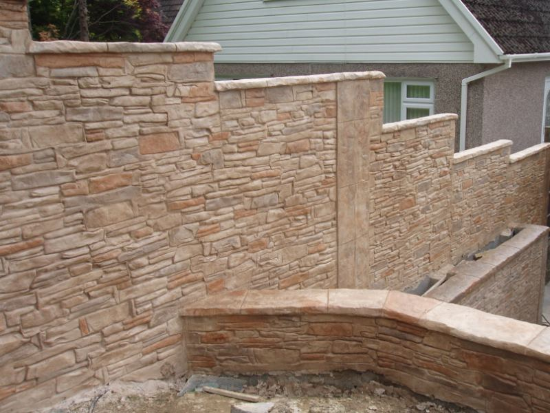 Here We Have A Garden Boundary Wall And Tiered Garden Completed In