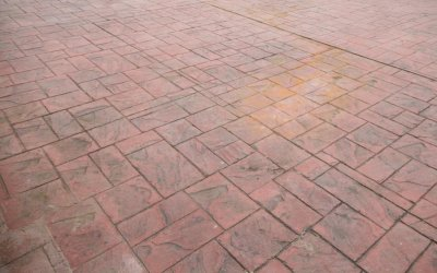 Before photo of cleaned and resealed driveway