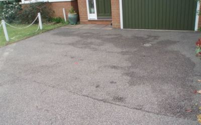 Tarmac driveway restoration before photo