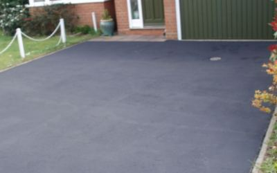 Tarmac driveway restoration after photo